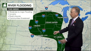 Rain to spread across central Plains on Tuesday