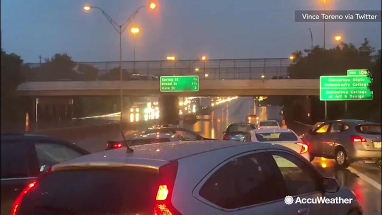 Waist deep waters halt traffic