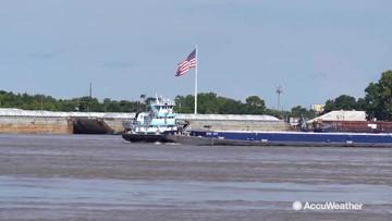 Flooding causing barge backups