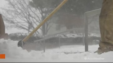 Winter storm in full swing, road crews work overtime to clear snow