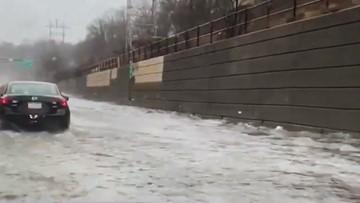Disastrous flooding slams Pennsylvania turnpike
