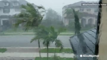 Tornadoes warned as rain flies in sideways