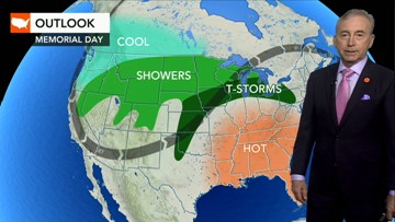 What weather can you expect Memorial Day weekend?