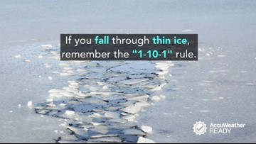 How to escape frigid waters if you fall through cracked ice