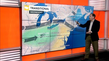 Storms to head into East ahead of holiday weekend