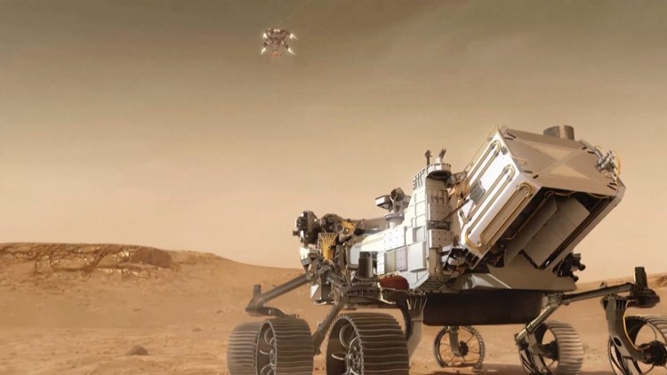 ESA Sends Orbital Photo of Perseverance Rover on Mars' Surface