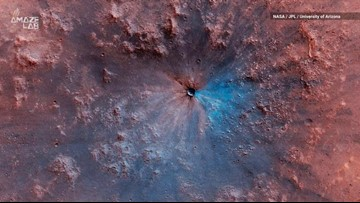 NASA Spacecraft Captures Brand New Crater on Mars