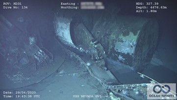 Wreckage of USS Nevada, that survived Pearl Harbor and atomic bomb tests, discovered in Pacific Ocean