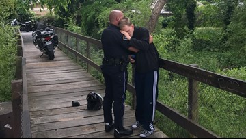 PHOTO: Police officer embraces man with autism after emotional rescue