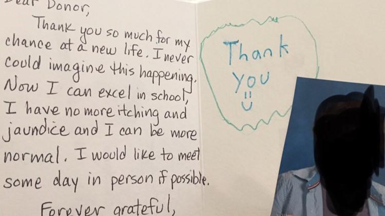 Carolyn Becker liver recipient letter