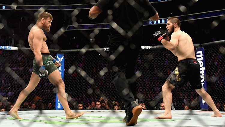 McGregor tapped out in the fourth round of his comeback fight against Nurmagomedov, who then scaled the cage and scuffled with another fighter manning McGregor's corner.