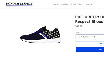 Police officer designs shoe to help first responders coping with PTSD
