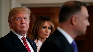 Trump says he'd 'want to hear' foreign dirt on 2020 rivals