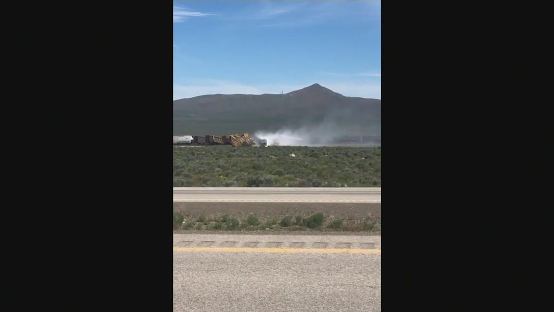 Nevada train derailment causes interstate closure