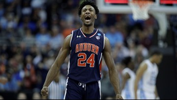 Auburn upsets No. 1 North Carolina in Sweet 16