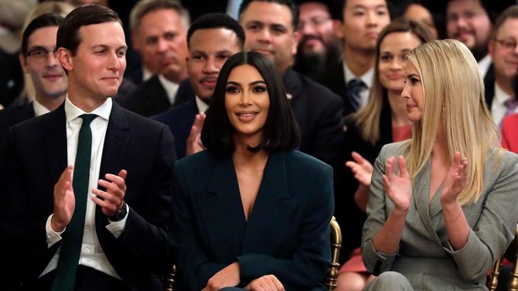 Trump Criminal Justice Kim Kardashian West Ivanka and Jared