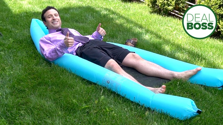 A pool float that can inflate itself?