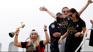 US Women's World Cup champions arrive home ahead of parade