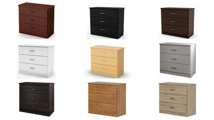Libra style 3-drawer chest in various colors