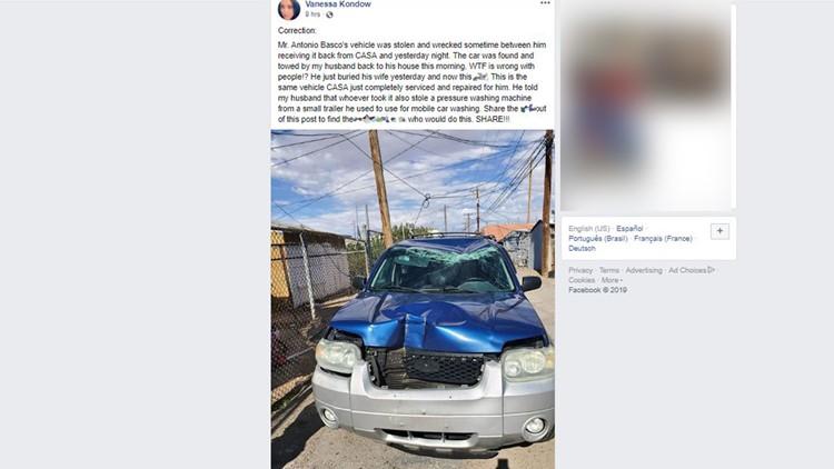 SUV stolen vandalized