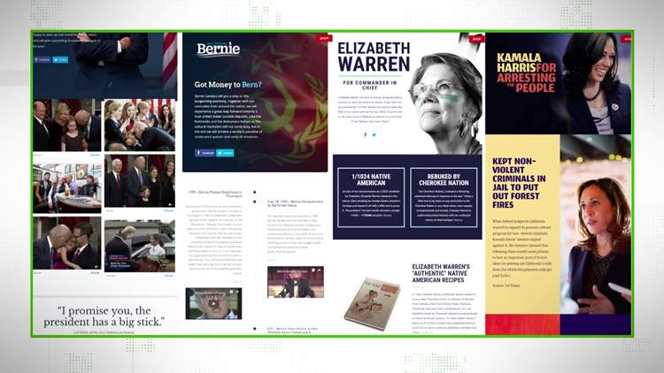 VERIFY: Fake Campaign sites for Democratic Candidates