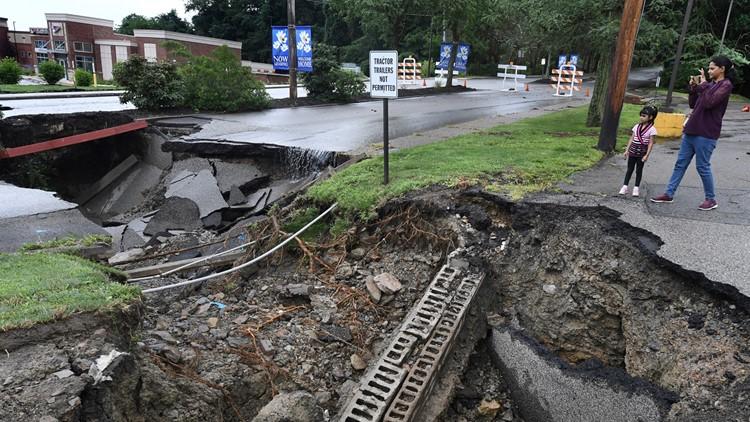 Pennsylvania Flooding sinkhole July 11