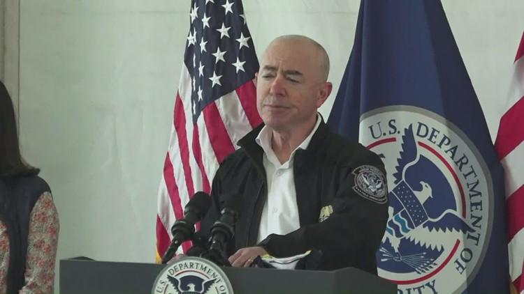 Homeland Security Secretary Mayorkas tours Donna, Texas, border processing center