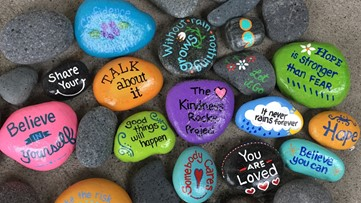 Teen spreads joy and inspiration by painting rocks