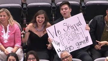 San Antonio teens skip prom to attend Spurs game