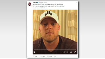 'That's our city': JJ Watt Houston Harvey relief fund hits $4M