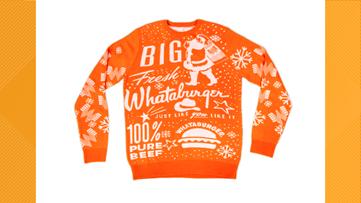 Whataburger unveils 2019 Christmas sweater