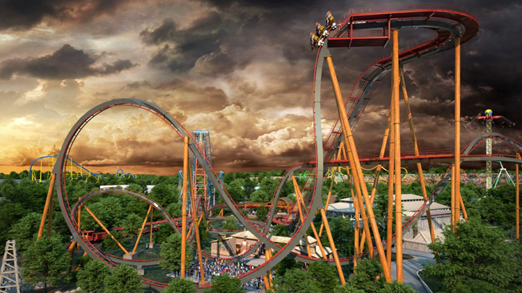 Six Flags Fiesta Texas unveils plans for world's steepest dive roller coaster