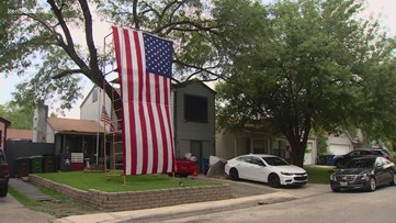 Texas homeowner goes big with salute to military service members ahead of Memorial Day