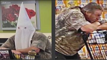 Photos of man wearing KKK hood at Santee, Calif., grocery store circulate on social media