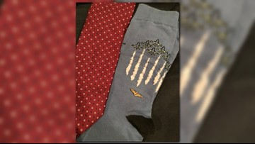 President George H.W. Bush's socks pay tribute to his lifetime of service