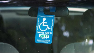 VERIFY: Can your handicap placard on your rear-view mirror get you in trouble?