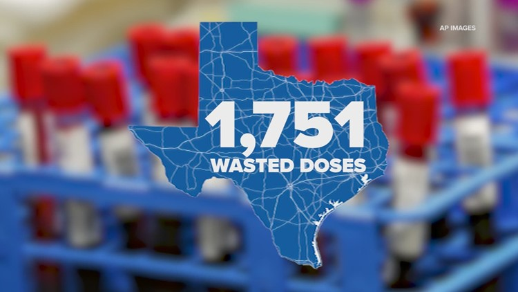 Hundreds of COVID-19 vaccine doses wasted in Texas