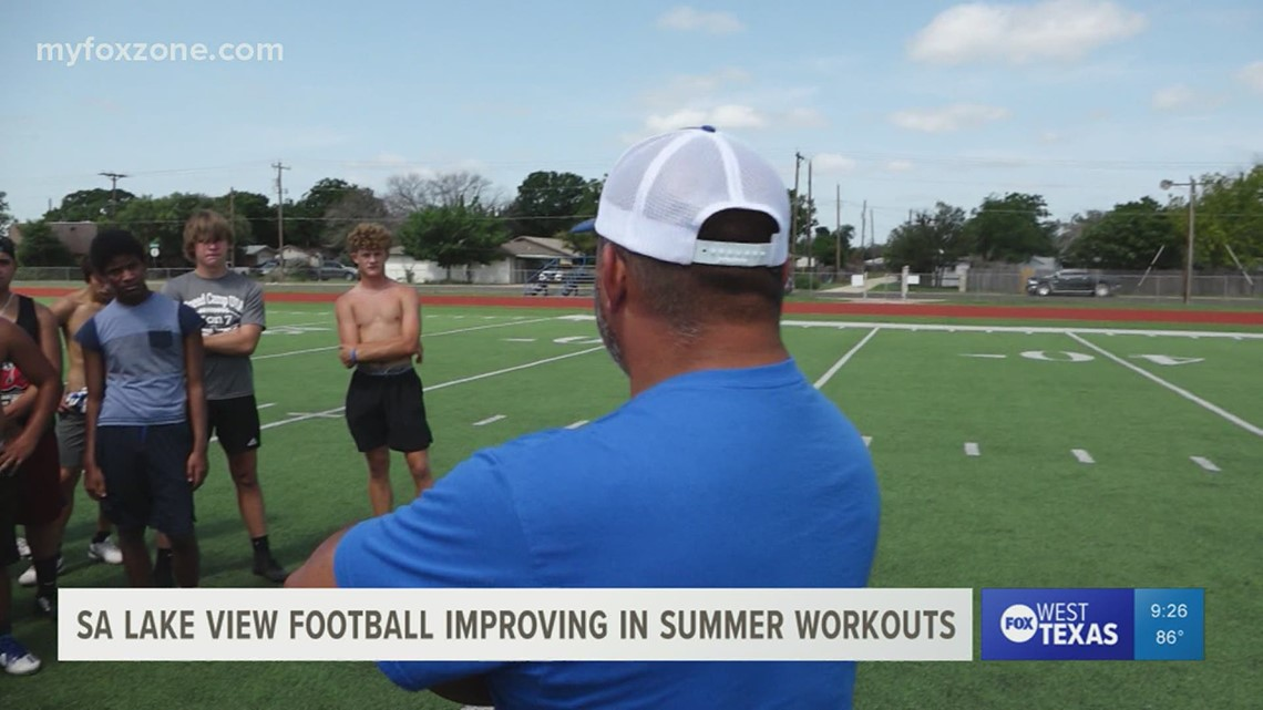 San Angelo Lake View High School football team preparing for fall practices