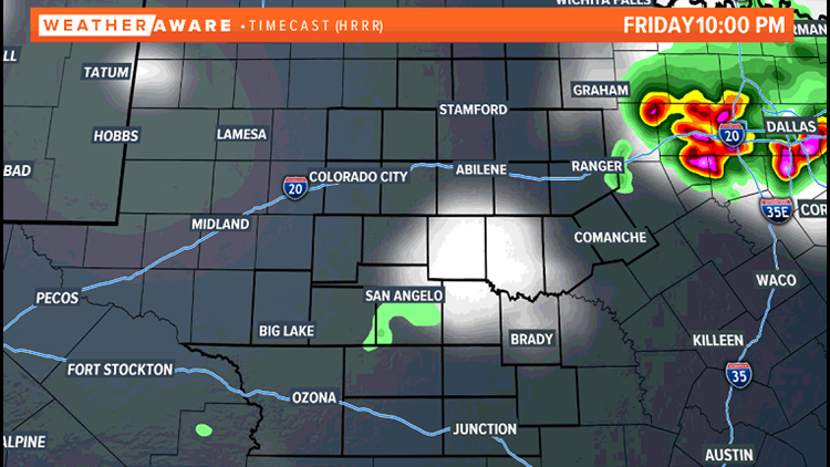 10pm Friday future radar
