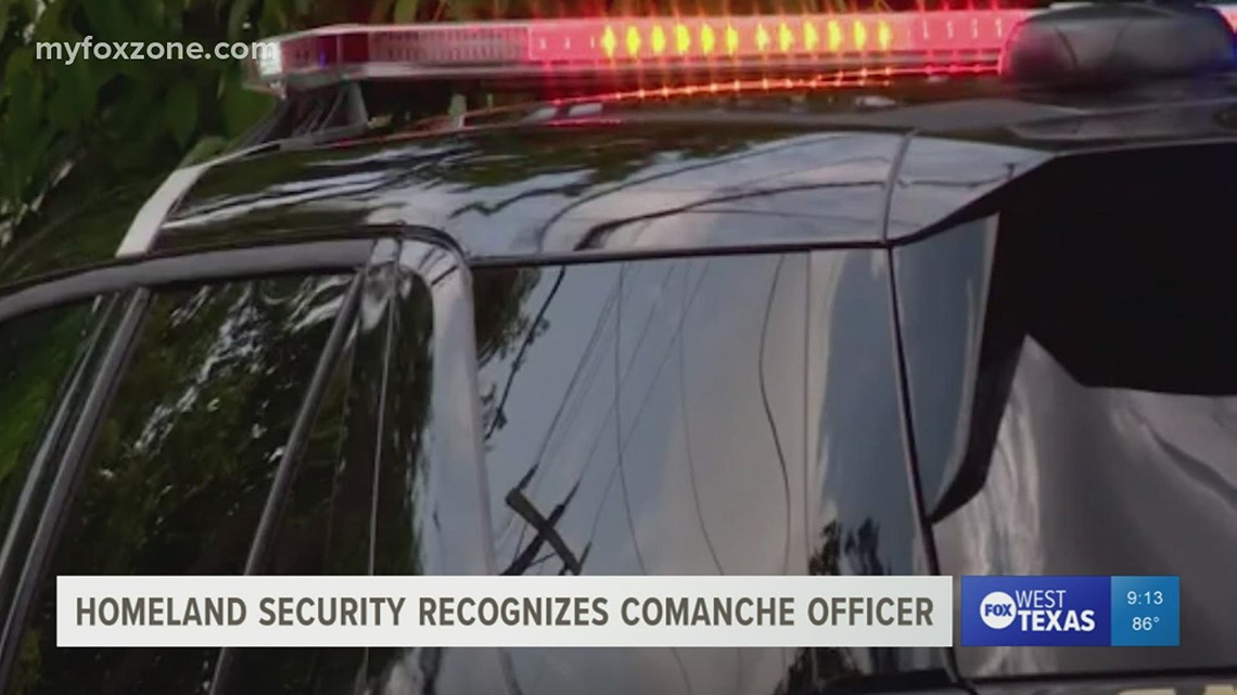 Comanche Police Investigator receives recognition for work on cartel-involved double murder