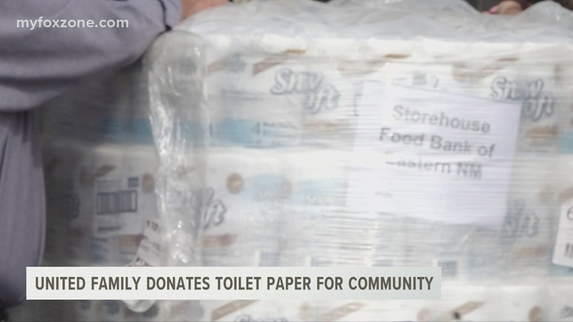 The United Family creates a way for local organizations to distribute toilet paper to those in need