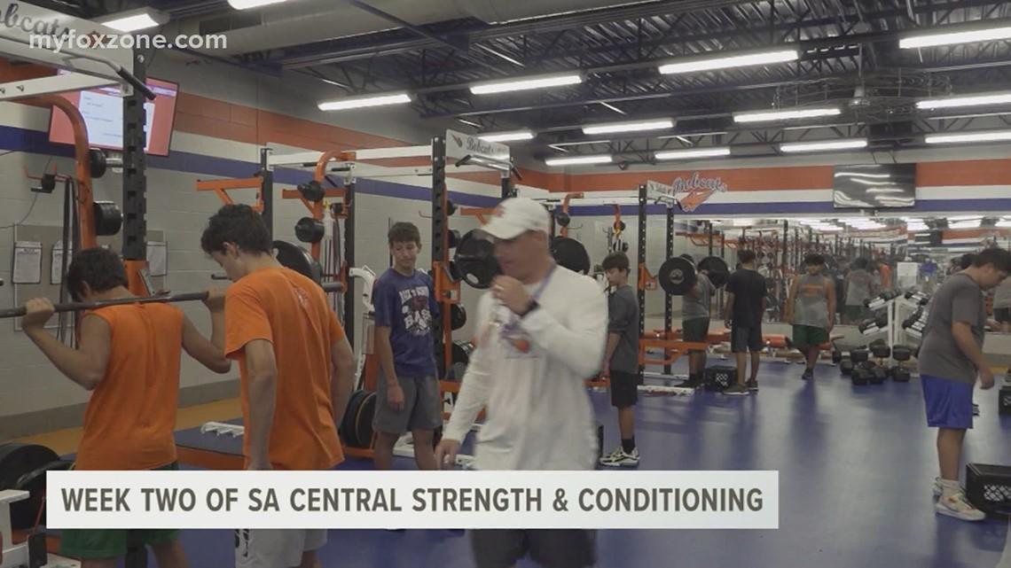 San Angelo Central High School football team progressing through summer workouts