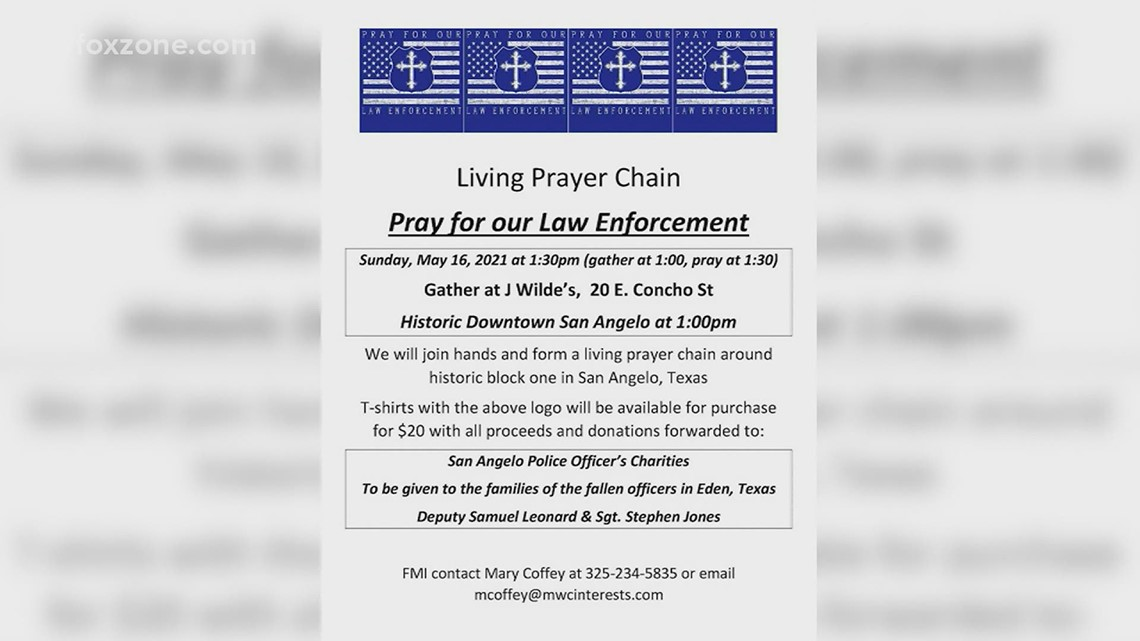 West Texas prayer group to honor fallen Concho County deputies