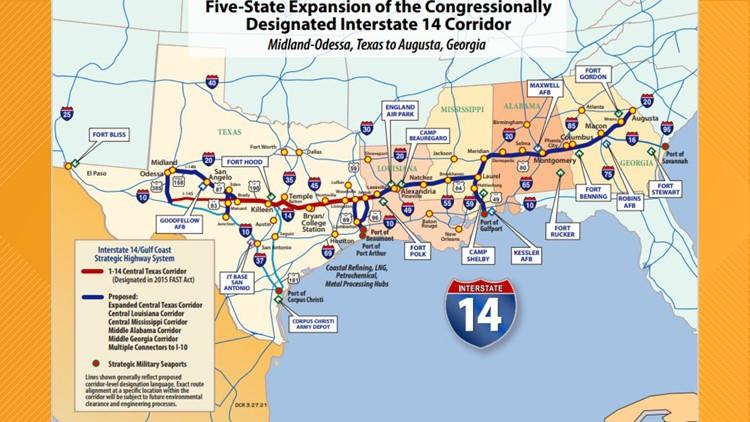Senate advances amendment for I-14 corridor