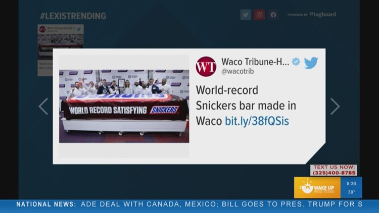 Trending: World's largest Snickers bar made in Waco