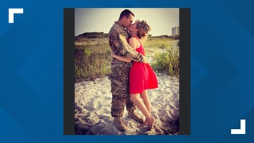Military spouse takes time to celebrate and thank husband