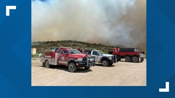 West Texas fire continues to burn in Crockett County