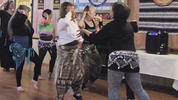 Belly dancing troupe shimmies throughout West Texas
