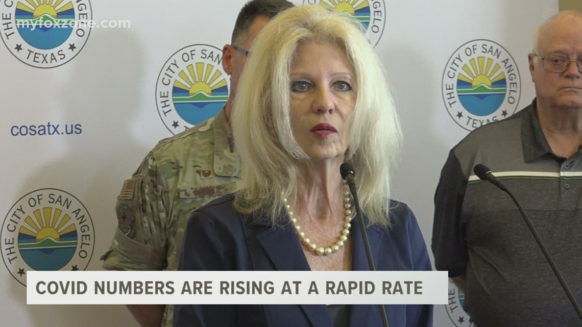 San Angelo mayor Brenda Gunter holds press conference addressing rising COVID numbers in the county