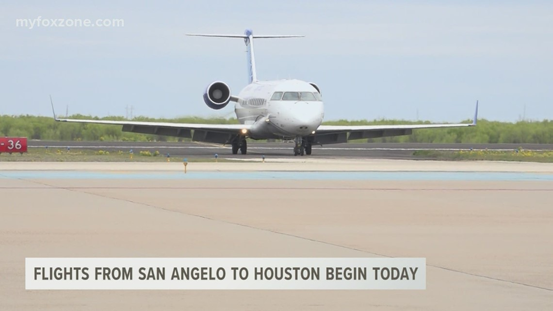 San Angelo Regional Airport is now able to take flight to Houston